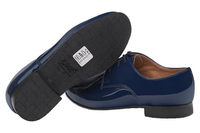 Półbuty eleganckie Lakierki buty KMK 99 Granatowe L