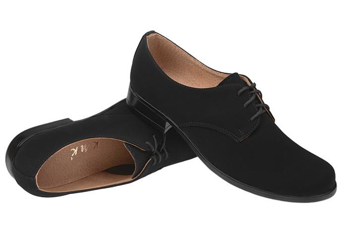Półbuty komunijne wizytowe buty KMK 99 Czarne N