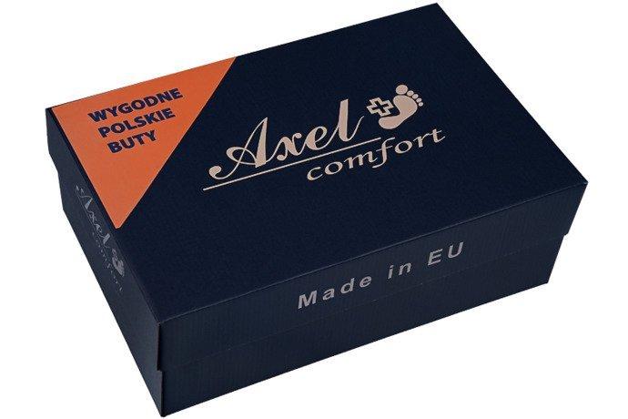Półbuty na obcasie Botki AXEL Comfort 1306 Grafitowe
