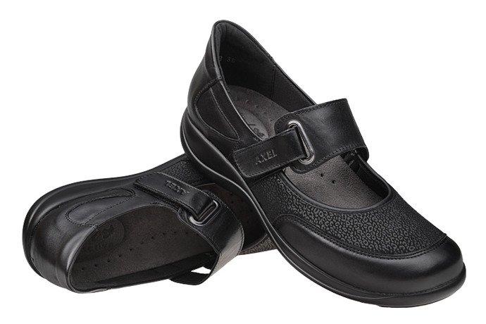 Półbuty na rzepy buty AXEL Comfort 1576 Czarne H