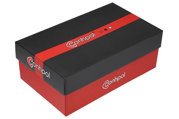 Półbuty wizytowe CONHPOL C-5489 Czarne