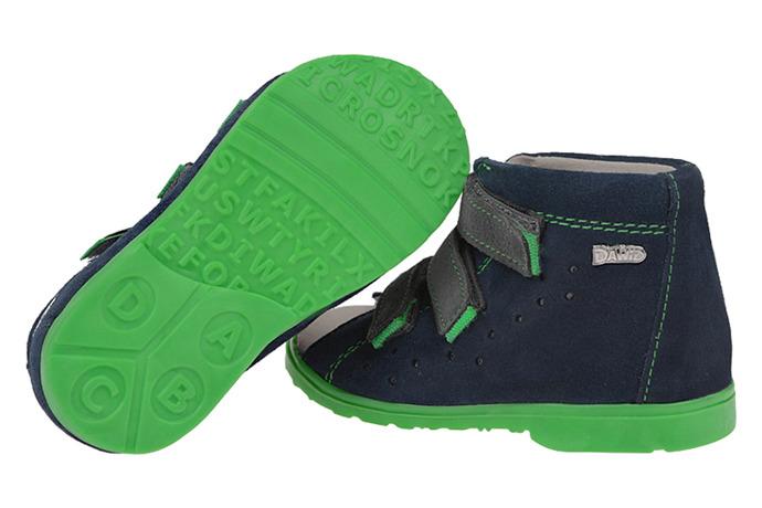 Sandałki Profilaktyczne Ortopedyczne Buty DAWID 1041 Granat GZ