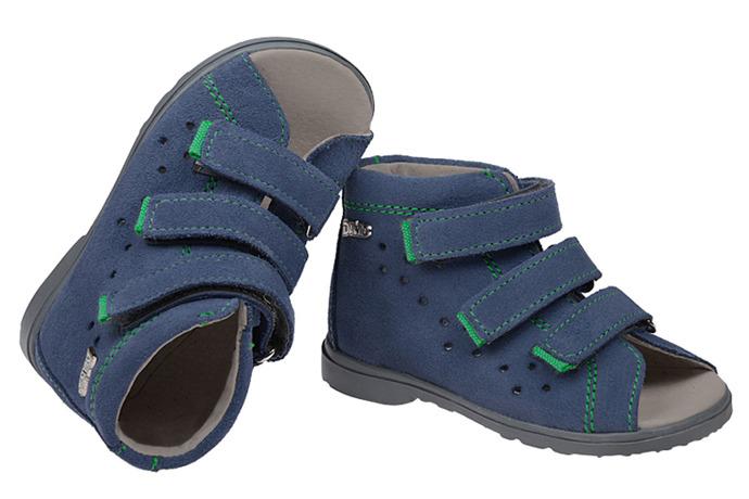 Sandałki Profilaktyczne Ortopedyczne Buty DAWID 1041 Niebieski GJ