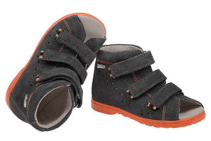 Sandałki Profilaktyczne Ortopedyczne Buty DAWID 1041 SZ Szary W17