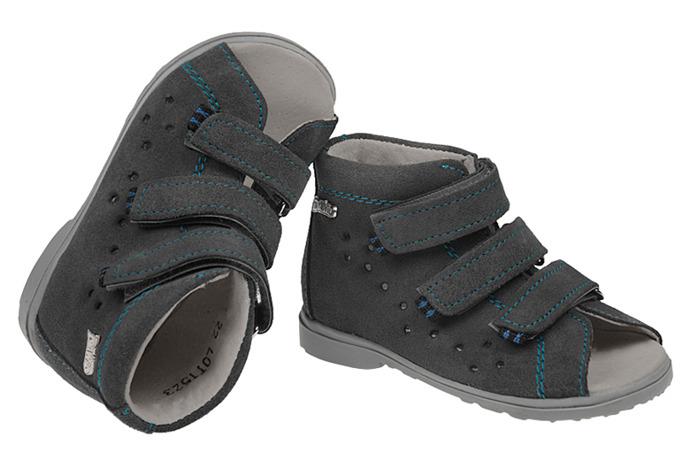 Sandałki Profilaktyczne Ortopedyczne Buty DAWID 1041 Szary SZG