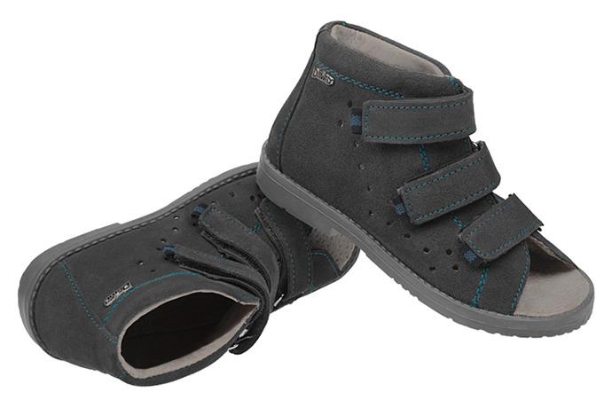 Sandałki Profilaktyczne Ortopedyczne Buty DAWID 1042 Szary SZG