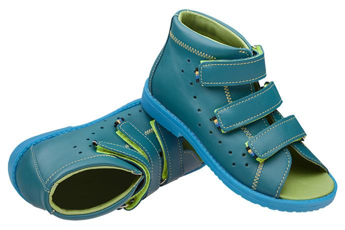 Sandałki Profilaktyczne Ortopedyczne Buty DAWID 1042 Turkus STN