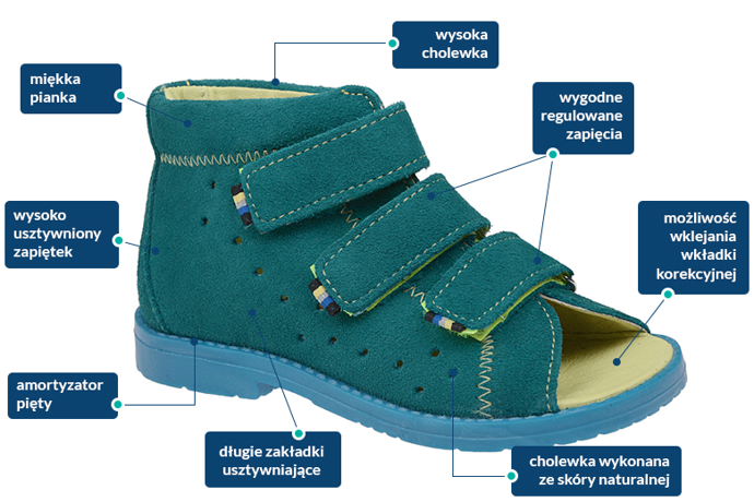 Sandałki Profilaktyczne Ortopedyczne DAWID 1042