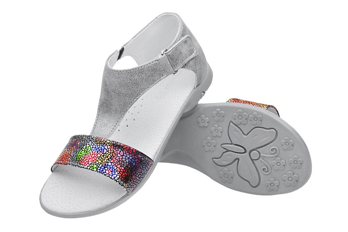 Sandałki dla dziewczynki KORNECKI 4750 Grafitowe Multi
