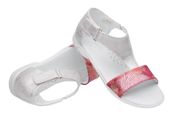 Sandałki dla dziewczynki KORNECKI 4750 Srebrne Multi-Róż