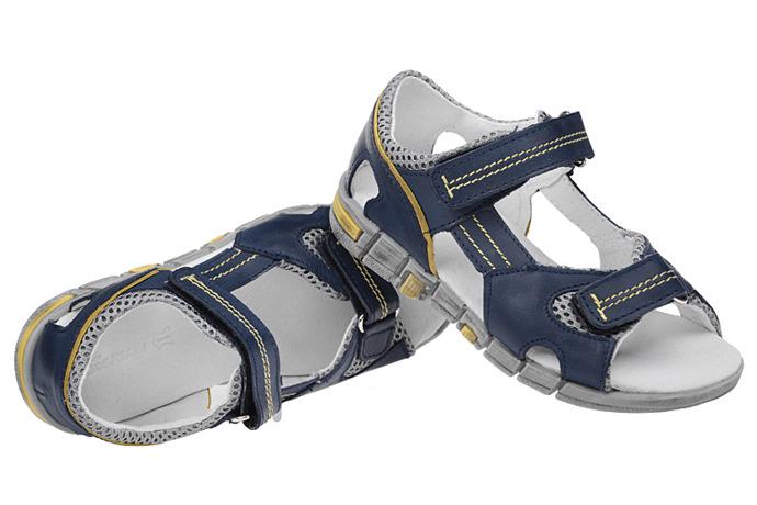Sandałki na rzepy skóra buty KORNECKI 3468 Granatowe