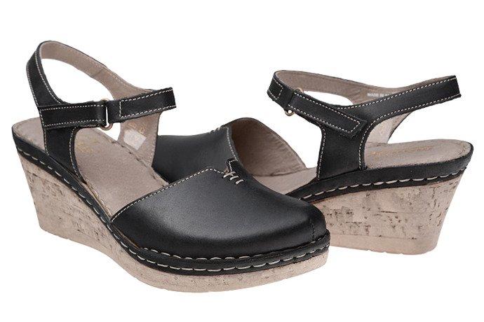 Sandały MANITU 920226-1 Czarne
