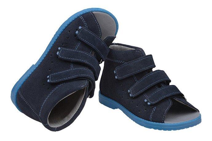 Sandały Profilaktyczne Ortopedyczne Buty DAWID 1043 Granat GN