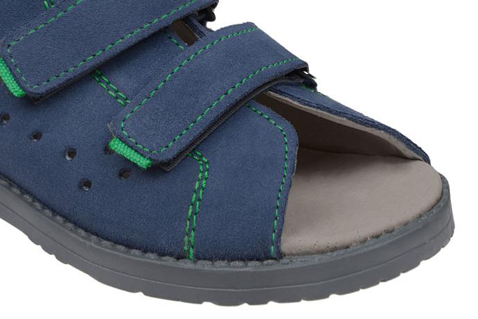 Sandały Profilaktyczne Ortopedyczne Buty DAWID 1043 Niebieskie GJ