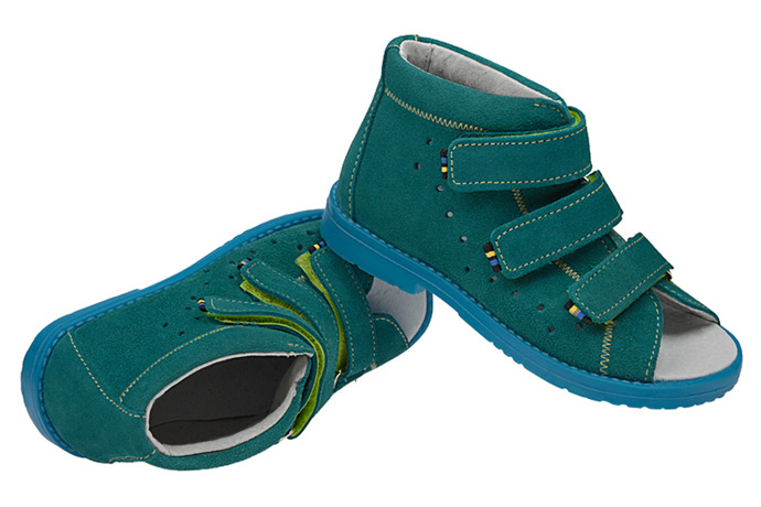 Sandały Profilaktyczne Ortopedyczne Buty DAWID 1043 Turkus TN JP
