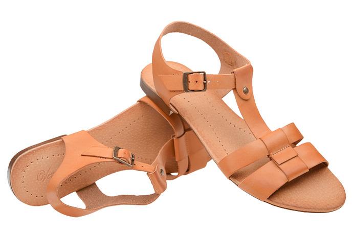 Sandały damskie VERONII 5224 Rudy-Brąz