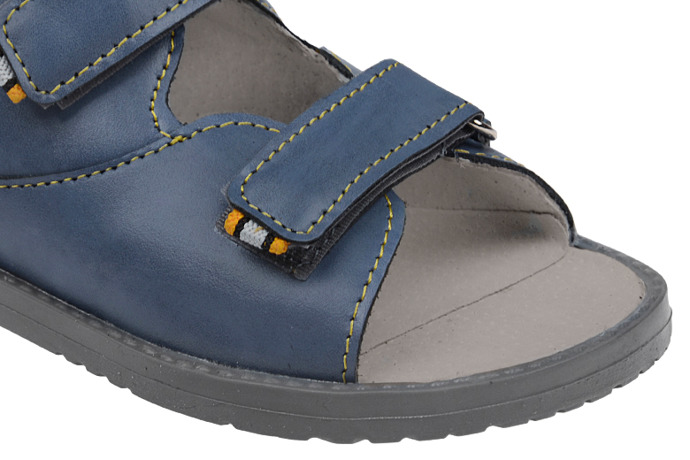 Trzewiki Profilaktyczne Ortopedyczne Buty DAWID 953-2 G Granatowe
