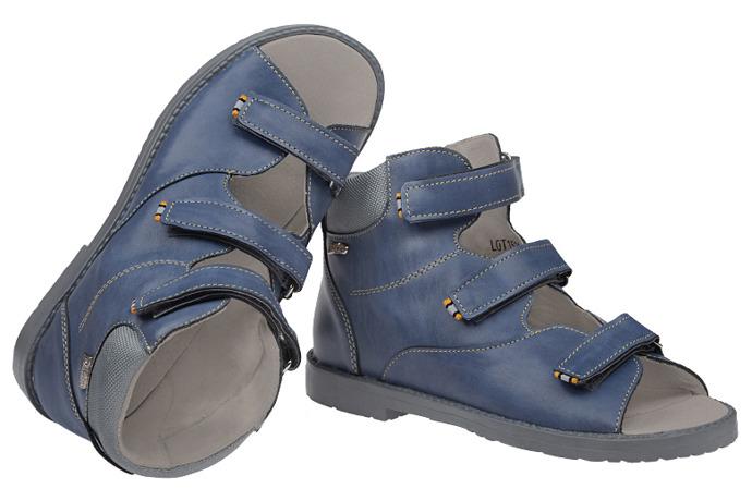 Trzewiki Profilaktyczne Ortopedyczne Buty DAWID 953-3 G Granatowe