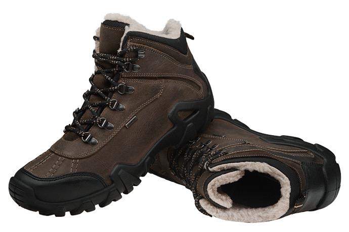 Trzewiki trekkingowe ocieplane MANITU 670567-2 Brązowe