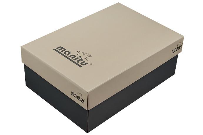 Włoskie Sandały MANITU 610220-1 Grafitowe