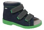 Sandałki Profilaktyczne Ortopedyczne Buty DAWID 1042 Granat GZ